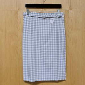 Ann Taylor NWT Gingham Belted Pencil Skirt size 4